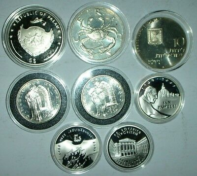 Lot of 8 Silver Proof Coins