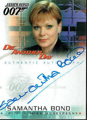 James Bond Die Another Day Autograph Card A4 Moneypenney