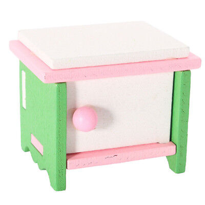 Doll House Miniature Bunk Furniture Kids Role Pretend Role Play Wooden Bedroom
