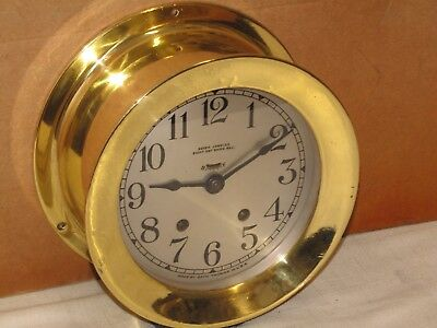 Seth Thomas Antique Ships Bell Clock~6 In ~1936~Chelsea Key