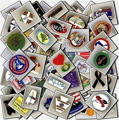 """Lot of 20 collectible Lapel Pins 1/2""""-3"""" ~No two pins alike starter collection!"""