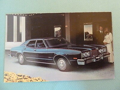 1976 Mercury Montego MX Brougham Dealer Car Vintage Postcard