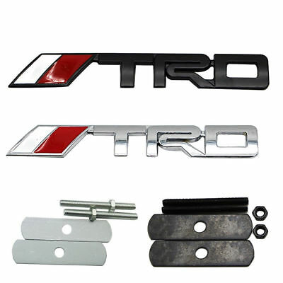 New 3D TRD Metal Logo Modification Emblem Badge Sticker Decal For Toyota