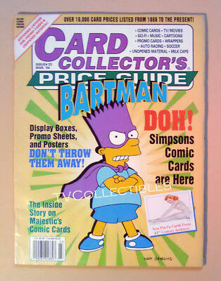 Magazine Trading CARD COLLECTOR'S Price Guide #23 ~March 1994~The Simpsons Bart