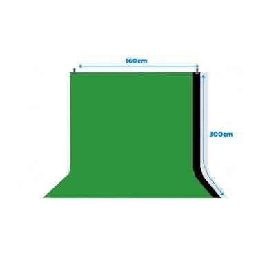 Kshioe 5 x 10ft 3 Colors Screen Backdrop Photo Video Photography Background