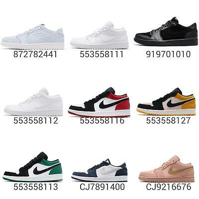6bb25d79875 NIKE AIR JORDAN 1 Low I AJ1 Obsidian Ember Glow White Men Shoes ...