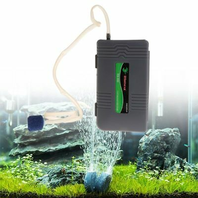 Portable Air Pump Aquarium Fish Tank Battery Powered Oxygen Aerator With Stone
