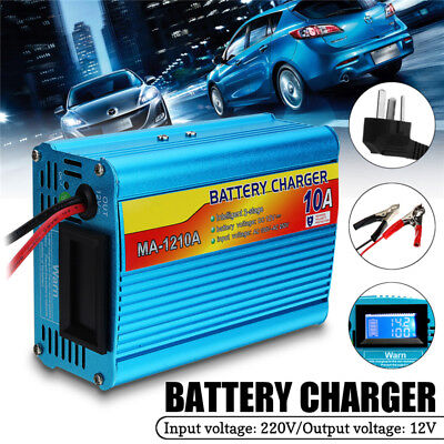10A 12V-220V Car Battery Charger Inverter Van Boat Truck Starter Power Booster