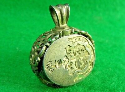 Antique 19th Century Victorian Nobility 3 Sided Spinning Wax Seal Fob