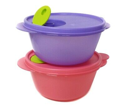 Tupperware 4x Small Goody Box with Cariolier 790ml Each Airtaight Container