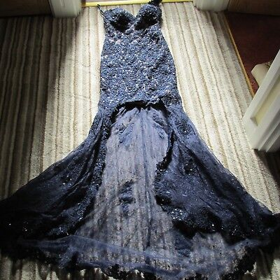 Designer  Navy lace dress  size 10  , worn once