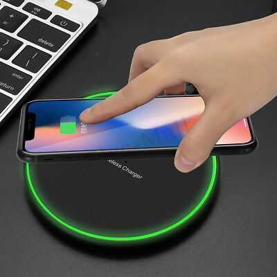 Qi Wireless Charger 10W Fast Charging Pad Dock For iPhone XS Max Samsung Note 9