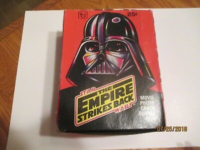 1980 Topps Star Wars Empire Strikes Back Series 1 Wax Box - 36 Packs