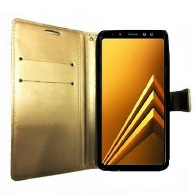 BRAND NEW GOLD Wallet Flip Case Leather PUMagnetic Book Cover for Samsung Galaxy