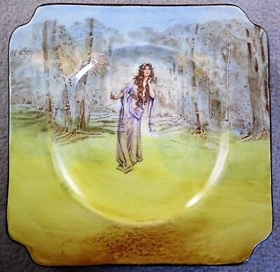 Royal Doulton Series Ware  Ophelia 15cm Square Plate or Stand D3596