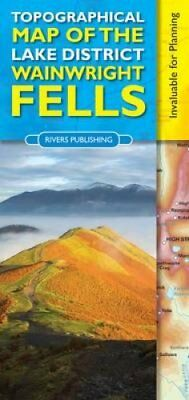 Topographical Map of the Lake District Wainwright Fells 9780955061479