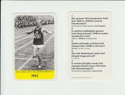 Athletics : Emil Zatopek : attractive German collectable game card