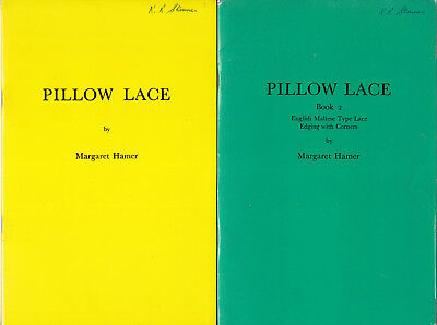 Pillow Lace Books 1 and 2 by Margaret Hamer with Prickings inc English Maltese