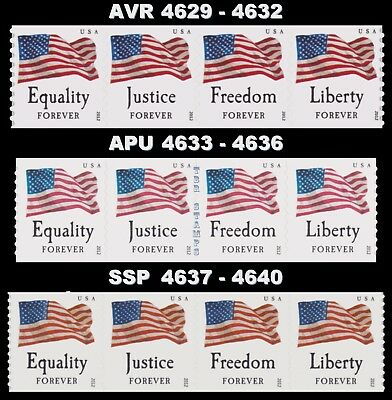 4629-32 4633-36 4637-40 Four Flags Forever 3 Coil Strips Set 2012 MNH - Buy Now