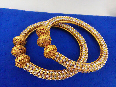 Indian Jewelry Christmas Gift Bangle Bollywood Ethnic Gold Plated Traditional