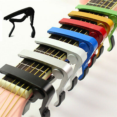 Change Tune Clamp Key Trigger Capo Acoustic Electric Guitar Accessories UU