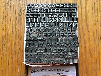 "Letterpress Metal Type  ""Heavy Copperplate ""  24 Point"