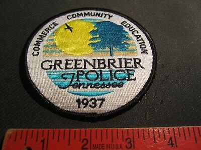 Greenbrier Tennessee Police Patch