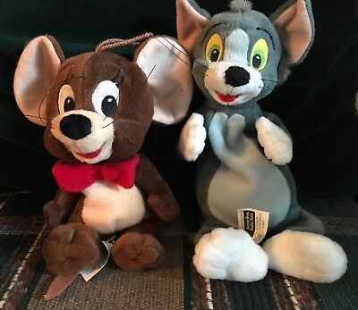 Vtg. Disney Tom And Jerry Soft Beanie Toys, Warner Bros. Studio Store, Adorable