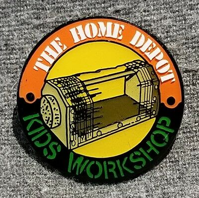 """LMH PINBACK Pin HOME DEPOT Kids Workshop BUG INSECT HOUSE Holder Display 1"""""""