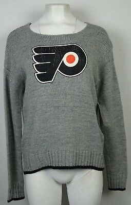 Philadelphia Flyers Touch Women s M Lace Up Back Sweater Gray NHL M 667f334db