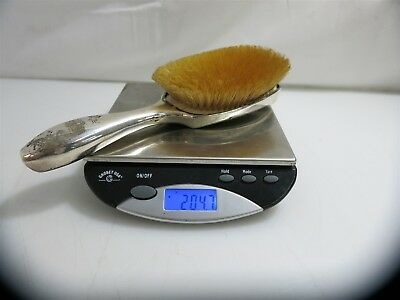 "Antique 9"" Sterling Hollow Handled Hairbrush. ""S' Monogram 204.9g"