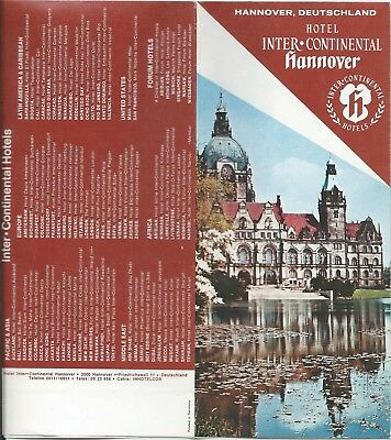 Hotel InterContinental HANNOVER Germany - vintage travel brochure