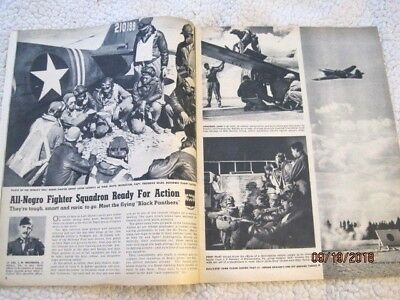 "9/1943 CLICK mag~Tuskegee ""all negro fighter squadron""~women farm workers cover"