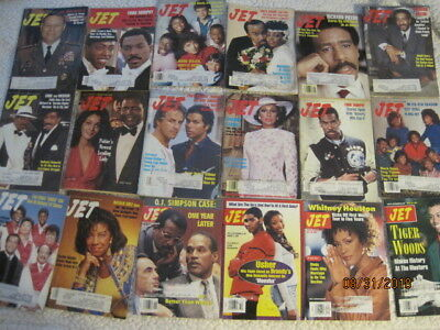 51 JET mags, 1970s~19890s~Whitney Houston~Tiger Woods~Bill Cosby~OJ~Halle Berry