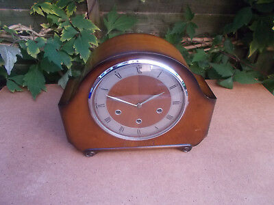 British Smiths 8 Day Floating Balance Westminster Mantle Clock Spares Repair