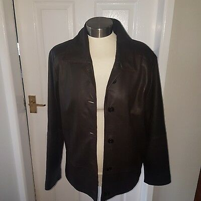 Lakeland Gorgeous Ladies Chocolate Brown Soft Leather Jacket Size 12 Vgc