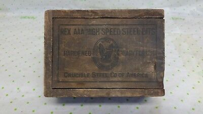 Rex AAA High Speed Steel Bits Crucible Steel Co. of America Slide Top Box Only