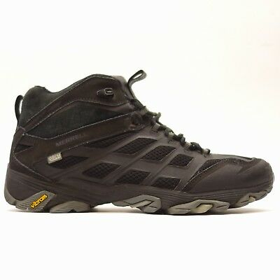 cfc9c122fdc MERRELL MENS MOAB FST Leather Mid Waterproof Athletic Hiking Mountain Shoes  10.5