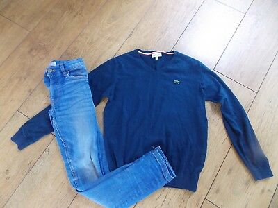 Boys Lacoste Jumper Next Skinny Jeans Age 9-10 Years