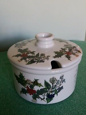 Vintage Portmeirion Ceramic Christmas Relish Serving Dish~Holly And The Ivy~Vgc~