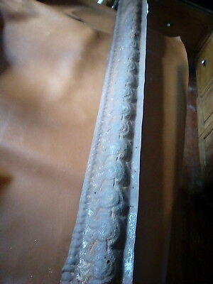 "Antique Tin Ceiling Cornice/architectural Salvage/49 1/2""/ Gc/1890-1900's( #112)"