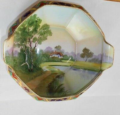 FABULOUS ANTIQUE ART DECO HANDPAINTED NIPPON BOWL w/EARLY MARK.