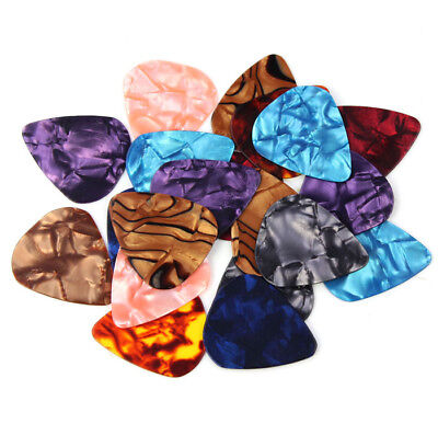 Approx. 100pcs Plastic Guitar Picks Plectrums--Assorted Random Color UU