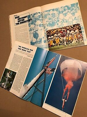 1974 Sports Illustrated 2 issue lot EVEL KNIEVEL, O.J. Simpson, Archie Griffin