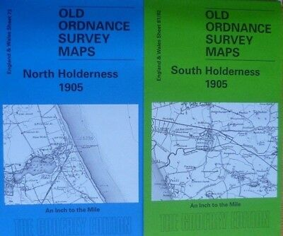 Old Ordnance Survey Maps Two Maps South & North Holderness 1905 Sheets 73 &81/82
