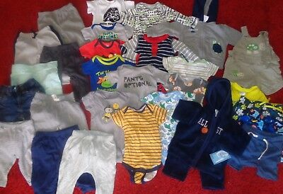 c2363ea0ef86 Huge Lot Infant Boys Clothes Winter Old Navy Pants Jackets Outfits Size 3-6  Mo