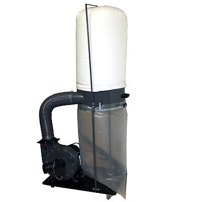 70 gallon 2 HP Industrial Dust Collector Heavy Duty High Flow Capacity Portable