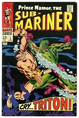 Sub-Mariner #2 (1968) Fine+ New Marvel Silver Bronze Collection
