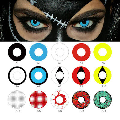 Eye Color Contacts Lenses Halloween Party Cosmetic Cosplay Colored Lens HOT LJY