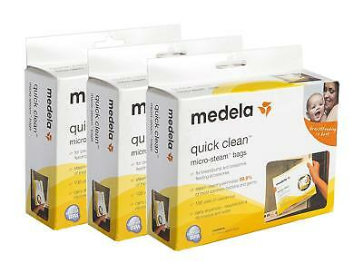 Medela Quick Clean Steam Sterilizer Bags, 3 Boxes of 5 sanitizing bags per box